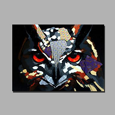 moderni abstrakti puhdasta käsinmaalattu öljymaalaus valmis ripustaa koriste pöllö