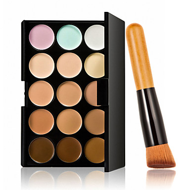 15 CorretivoPincéis de Maquiagem Molhado CaraBranqueamento Cobertura Corretivo Peles com Manchas Natural Minimizador de Poros Respirável
