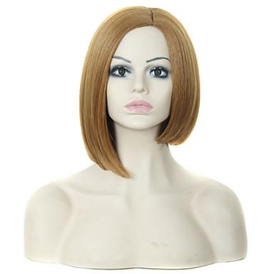 népszerű hölgy barna színű rövid szintetikus haj