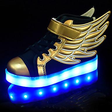 Jungen Mädchen Schuhe Kunststoff Frühling Sommer Herbst Komfort Leuchtende LED-Schuhe Sneakers Schnürsenkel LED für Sportlich Normal