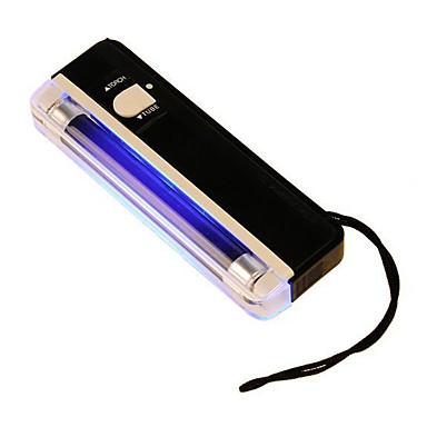 2 in 1 UV Schwarzlicht Taschenlampe tragbare Falschgeld Gelddetektorlampe (gelegentliche Farbe)