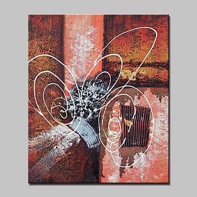 Maalattu Abstrakti / Abstraktit maisemakuvat / PopModerni 1 paneeli Kanvas Hang-Painted öljymaalaus For Kodinsisustus