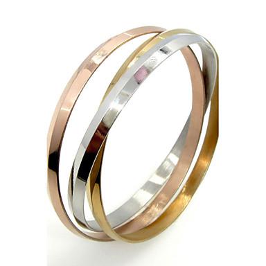 Homens Mulheres Feminino Bracelete Aço Inoxidável Jóias Para Casamento Festa Diário Casual