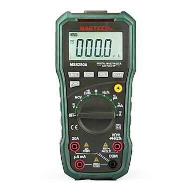 mastech ms8250a 40m (ω) 1000 (נ) 20 (א) multimeters דיגיטלית professinal