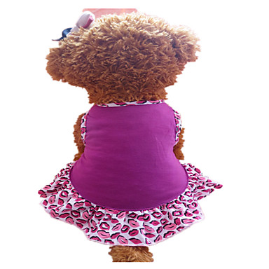 Dog Dress Dog Clothes Fashion Lips Purple Costume For Pets