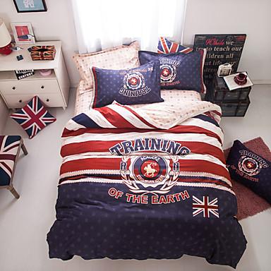 Geometrisch Baumwolle 4 Stück Bettbezug-Sets
