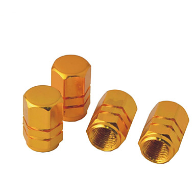 4 peças hexágono tampas das válvulas de alumínio de liga de pneus para veículos automóveis