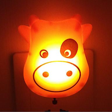 kreativ varm hvit ku lyssensor om babyen sove natt lys (tilfeldig farge)