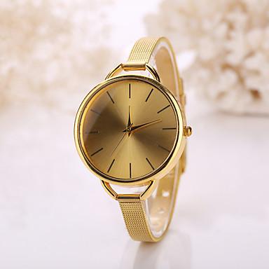 Homens Relógio de Moda Quartzo Relógio Casual Aço Inoxidável Banda Boêmio Prata Dourada
