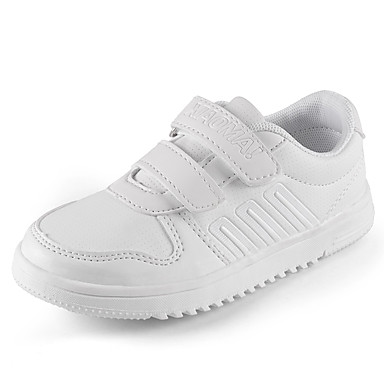Herren-Sneaker-Lässig-Leder-Flacher Absatz-Rundeschuh-Weiß