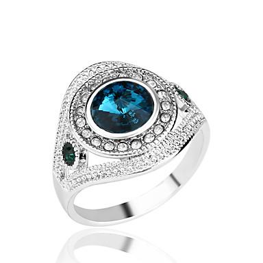 Damen Statement-Ring - Diamantimitate, Aleación Luxus, Modisch 7 / 8 / 9 / 10 Rot / Grün / Blau Für Party Alltag Normal / Strass