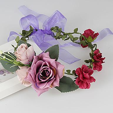 נשים בד כיסוי ראש-חתונה אירוע מיוחד קז'ואל חוץ זרי פרחים חלק 1