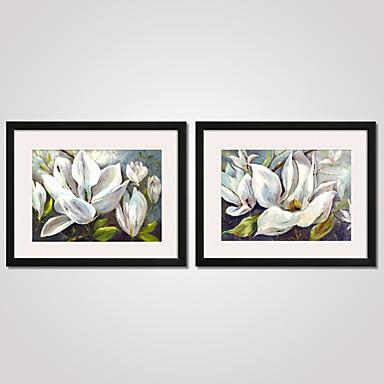 Blomstret/Botanisk Still Life Landskap fritid sport Innrammet Kunstrykk Innrammet Lerret Innrammet Sett Veggkunst,PVC Materiale med ramme