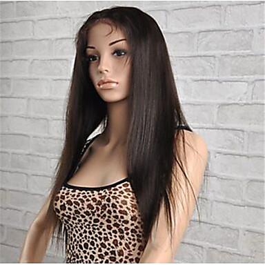 인모 전체 레이스 전면 레이스 가발 직진 130 % 밀도 100% 핸드 타이드 흑인 가발 자연 헤어 라인 짧음 보통 긴 여성용 인모 레이스 가발