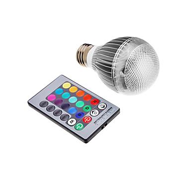 3W 300 lm E26/E27 LED kulaté žárovky lED diody Integrovaná LED Dálkové ovládání R GB AC 85-265V