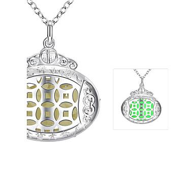 שרשראות שרשראות תליון תכשיטים חתונה / Party / יומי מצופה כסף כסף / כחול / ירוק / סגול 1pc מתנות