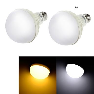 3W E26/E27 LED Kugelbirnen C35 6 SMD 5630 200 lm Warmes Weiß / Kühles Weiß Dekorativ AC 220-240 V 2 Stück