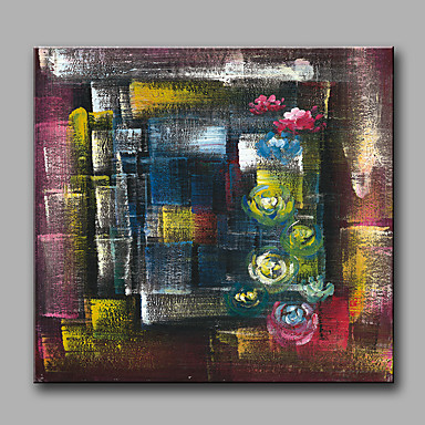 Pintados à mão Fantasia Quadrada, Modern Tela de pintura Pintura a Óleo Decoração para casa 1 Painel