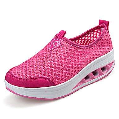 Kiilakorko Platform-Naisten-Tyll-Sininen Punainen Harmaa-Ulkoilu Rento-Platform Crib Shoes