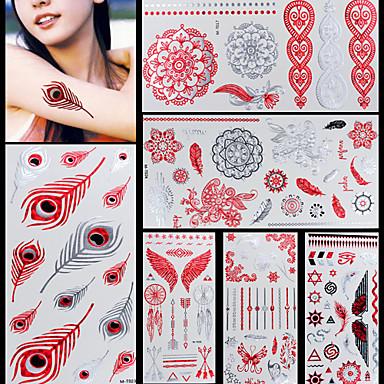 Tatuointitarrat Korusarjat Eläinsarja Kukkasarjat Toteemisarja MuutNon Toxic Kuvio Halloween Glitter Kristalli Hawaiian Alaselkä