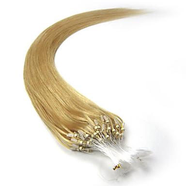 mikro döngü saç uzatma Brezilyalı saç düz 100'ler 16-26inch insan saçı mikro yüzük saç uzatma
