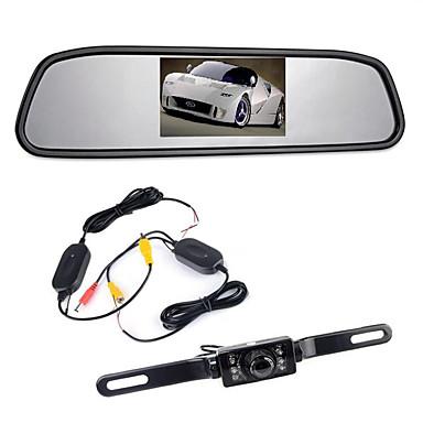 "voordelige Automatisch Electronica-4,3 ""tft lcd-monitor auto achteruitkijkdraden 170 ° achteruitkijkcamera achteruitkijkcamera nachtzicht"