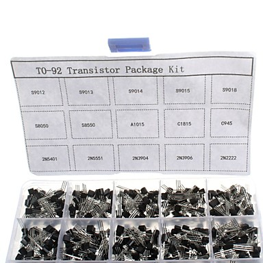 750pcs 15kindsx50pcs zu-92-Transistor-Kit + Retail-Box (A1015, C945, C1815, S8050, s9012,2n2222 ...)