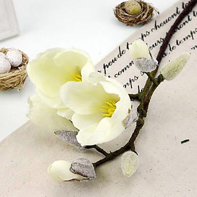 1 haara Silkki Hortensiat Magnolia Pöytäkukka Keinotekoinen Flowers
