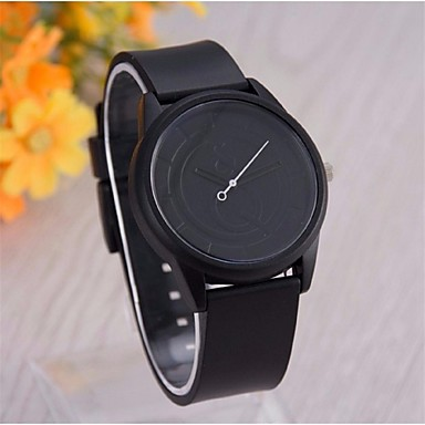 Infantil Relógio de Moda Relógio Casual Quartzo Silicone Banda Preta Branco Cinza