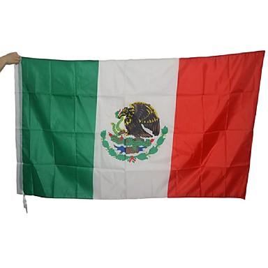 bandeira mexicana grande poliéster méxico nacional bandeira interior decoração da casa ao ar livre (sem haste)