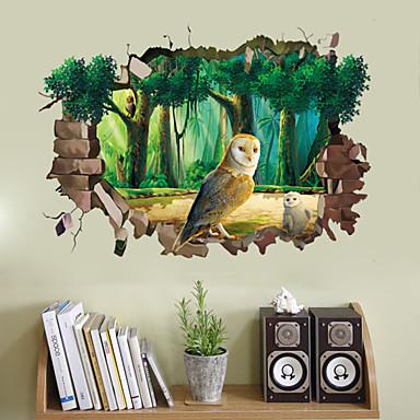 Tiere Mode 3D Wand-Sticker 3D Wand Sticker Dekorative Wand Sticker Stoff Abziehbar Haus Dekoration Wandtattoo