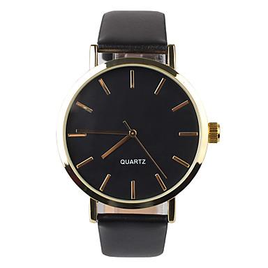 Herren Armbanduhr Quartz PU Band Schwarz Marke-