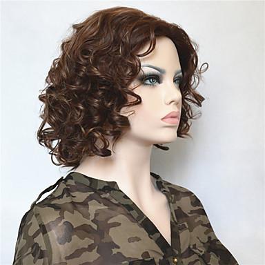 Συνθετικά μαλλιά Περούκες Σγουρά Χωρίς κάλυμμα Κοντό