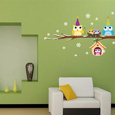 Dekorative Mur Klistermærker - Fly vægklistermærker Landskab Dyr Stue Soveværelse Badeværelse