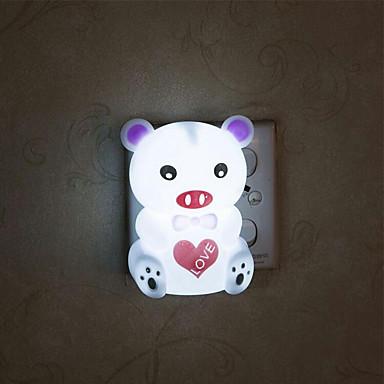 kreativ varm hvit gris om babyen sove natt lys