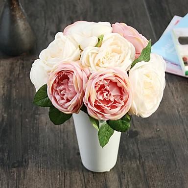 1 Gren Silke Roser Bordblomst Kunstige blomster