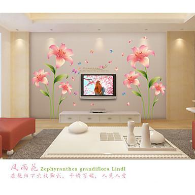 Romanticismo moda floreale adesivi murali adesivi aereo da for Adesivi decorativi da parete