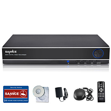 sannce 8ch 960h DVR multi-mode input w / ecloud HDMI 1080p / vga / bnc output-reaaliaikaisen kauko mielestä qr code scan p2p