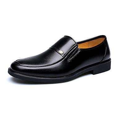 Erkek Ayakkabı Yapay Deri Bahar Sonbahar Biçimsel Ayakkabı Rahat Mokasen & Bağcıksız Ayakkabılar Günlük Ofis ve Kariyer için Siyah