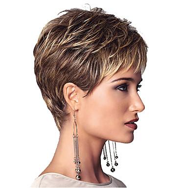 אופנת פלאפי פאת אישיות נשית פאת שיער מתולתלת קצרה חומר סינטטי
