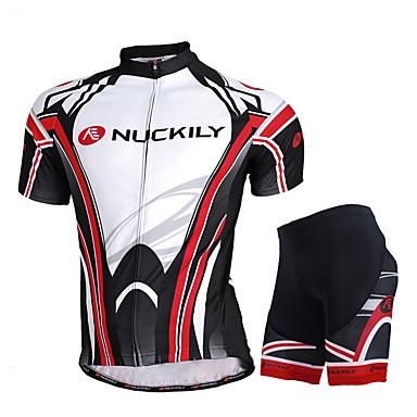 Nuckily Φανέλα και σορτς ποδηλασίας Ανδρικά Κοντομάνικο Ποδήλατο Αθλητική μπλούζα Κοντά Παντελονάκια Σετ ΡούχωνΓρήγορο Στέγνωμα Υπεριώδης