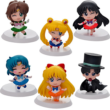 Anime Toimintahahmot Innoittamana Sailor Moon Sailor Moon PVC 5cm CM Malli lelut Doll Toy