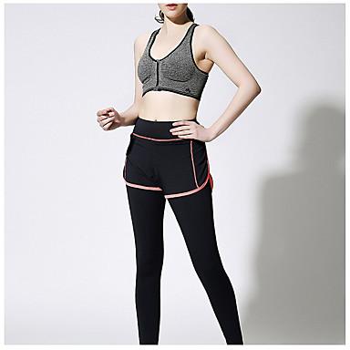 Yoga-Hose Strumpfhosen/Lange Radhose Rasche Trocknung Atmungsaktiv Sanft Normal Unelastisch Sportbekleidung Damen Yoga Übung & Fitness