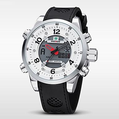 WEIDE Erkek Bilek Saati / Dijital saat Alarm / Takvim / Kronograf Kauçuk Bant Siyah / Su Resisdansı / LCD / Çift Zaman Bölmeli