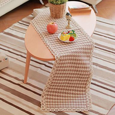 bomull blanding rektangulær 1 stk table runner