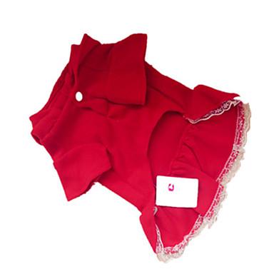 Köpek Elbiseler Köpek Giyimi Drak Red Kostüm Evcil hayvanlar için