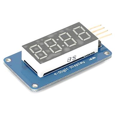 4 Bit-Digital-Rohr-LED-Display-Modul mit Uhranzeige tm1637 für Arduino Raspberry Pi