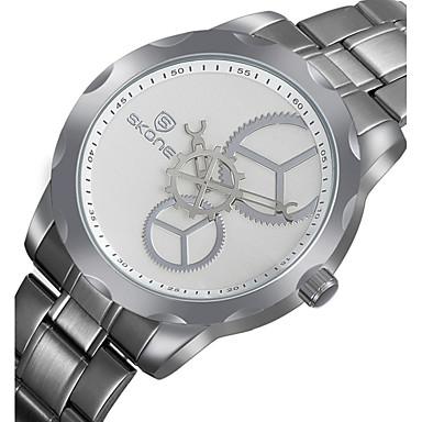 Herrn Einzigartige kreative Uhr Armbanduhr Quartz Schlussverkauf Edelstahl Band Charme Silber