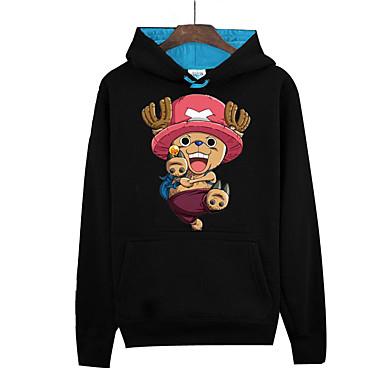 Inspiriert von One Piece Monkey D. Luffy Anime Cosplay Kostüme Cosplay Hoodies Druck Langarm Top Für Unisex