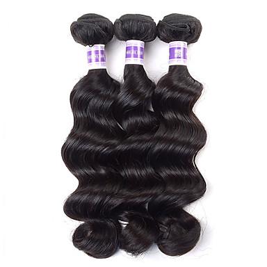 Hiukset kutoo Brasilialainen Löysät aaltoilevat 4 osainen hiukset kutoo